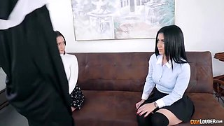 Lesbian sisters tested by Mother Superior with Apolonia Lapiedra and Hope