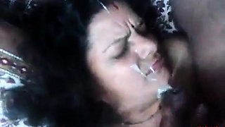 Aunty blowjow and get cum in her face