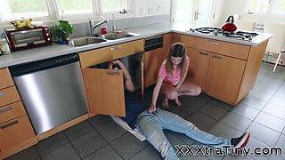 Dick tugging teenager