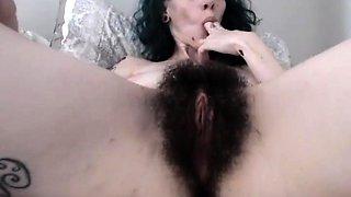 RealPorn Hairy Girl Pussy Masturbation Home Porn Part1