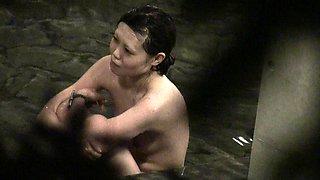 Beautiful Japanese girl enjoying a nice bath on hidden cam