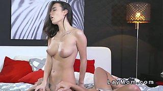 Two perfect tits lesbians tribbing