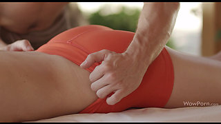 Daniela Rose gets oiled and an internal massage 1080