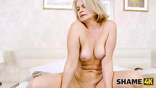 SHAME4K. An older woman cant stop a stallion from teasing her sensitive spots
