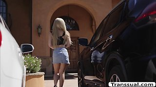 TS Daisy bend over and let her BF bangs her