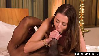 BLACKED Shy & sexy Sybil A seduces her celebrity crush on PornHD