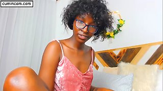 Black ebony african africa wild joy lesbian loves sex in the webcam without dude dick penetration
