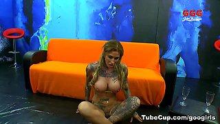 Horny pornstar Nathalie Hardcore in Incredible Bukkake, Swallow sex video