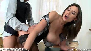 Sexy teacher seduced a second year old