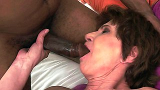 A black man penetrates a hot nasty old granny with big boobs
