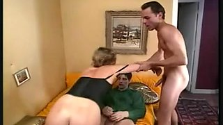 Hard double penetration for charming french golden-haired