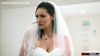 Big tits bride anal fucked by grooms brother hardcore