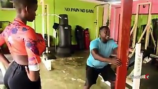 Pamela watara biggest african boobs workout