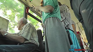 Public upskirt video will surprise with beautiful gal