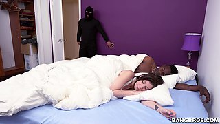 Robber ass fucks married slut in the morning