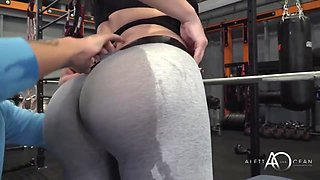 Busty Brunette With A Massive Butt Is Moaning While Getting Banged In A Local Gym