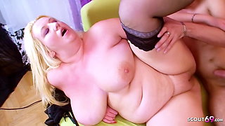 Extrem FAT MILF with Monster Tits Rough Taboo Sex with Teen