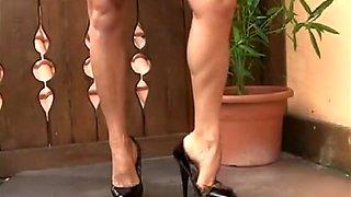 Horny homemade High Heels, Solo Girl sex clip
