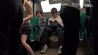 Mari Motoyama Masturbated Route Bus Kamoi Love Inverse Molester Woman