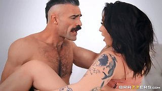 Charles Dera - Busty Brunette Zana Blue Likes It When A Man Is A Bit Rough And Aggressive