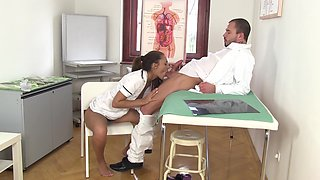 Nurse and doctor fall for each other and Alexis Brill fucks like a champ