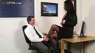 CFNM office femdoms humiliate horny boss