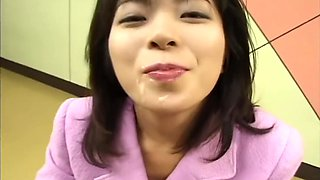 Japanese girl legendary porn star semen bukkake gokkun swallow compilation
