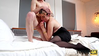 TUTOR4K. Mature charmer spends time being scored instead of teaching
