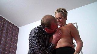 Sexy glasses granny sex