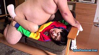 Petite Jav Teen Okita Devoured By Massive Fat Guy