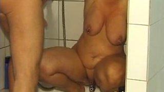 Hot mature slave slut dominated by her master