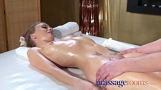 Massage Rooms Horny oiled petite British woman squirting