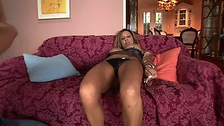 Pornstar Angelica Sin with high heels getting fucked by a white monster