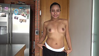 Tight young Colombian asshole stretched by a thick cock