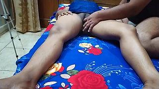 Girls massage in bedroom
