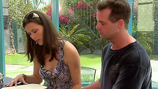 Swinger threesome with two hot brunettes