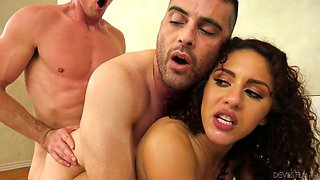 Awesome bisexul MMF threesome with such a wild cowgirl Liv Revamped