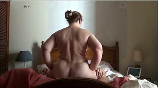 BBW white hot housewife is a champ in riding me on top