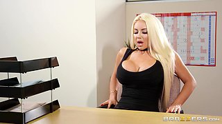 blonde busty babe gets fucked hard during job interview