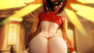 Gentle Mercy from Overwatch Enjoyed Sex Porn Compilation