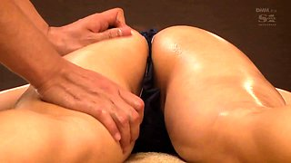 Charming Japanese babe gets drilled rough and facialized
