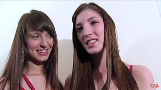Sisters Bukkake Penelope and Monica Crunch Extreme Cum party