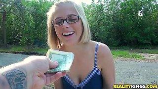Dirty fuckin' bitch fucks for money