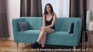 Flirtatious chick pleasures slim vagina until she is climaxi