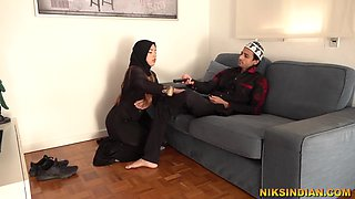 Niks Indian In Hot Muslim Teen Masturbates And Gives Blowjob To Stepbrother