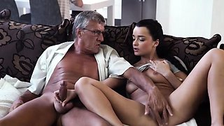 Old seduces young and man fucks pal' patron's daughter There