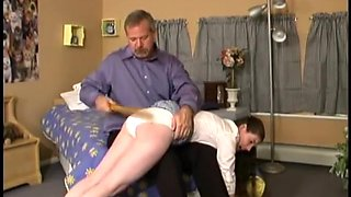 Dad overhears daughter downplaying the last spanking he gave her, big error