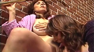 Marvelous white hot milfs and their partners having small orgy