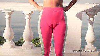 Cameltoe. my camel toe when i wear this tight yoga pants