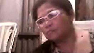 Asian granny Elizabeth 57 yr flashing 5